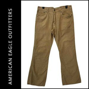 American Eagle Men Corduroy Bootcut Pants Szie 38